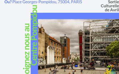 visite centre Georges Pompidou 18 avril