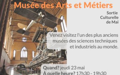 visite musée arts et métiers 23 mai