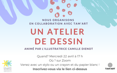 Atelier de dessin avec Tam'Art 22 avril