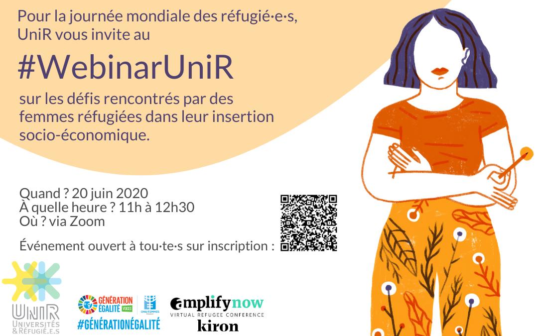 #WebinarUniR Femmes, réfugiées et étudiantes : résultats de notre recherche-action 20 JUIN