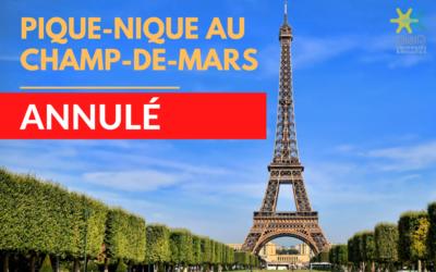 Pique-nique au Champ-de-Mars 21 août – ANNULÉ