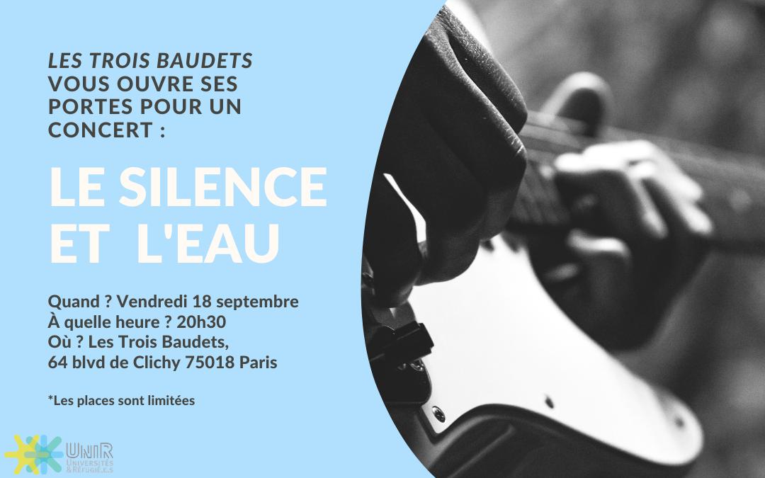 """Concert """"Le Silence et L'Eau"""" 18 septembre"""