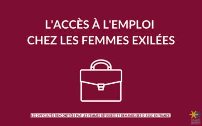 [ FICHE THÉMATIQUE #3 ] L'ACCÈS À L'EMPLOI  CHEZ LES FEMMES EXILÉES