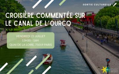Croisière commentée sur le canal de l'Ourcq 23 juillet