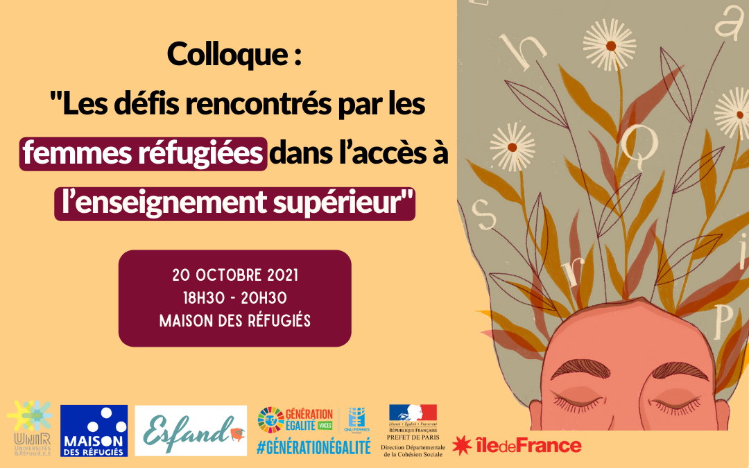 Colloque : «Les défis rencontrés par les femmes réfugiées dans l'accès à l'enseignement supérieur» 20 octobre